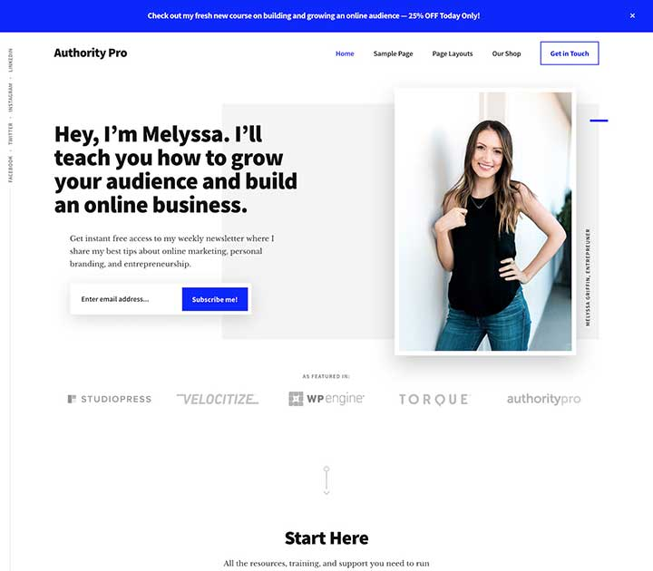 Authority Pro WordPress writers Theme