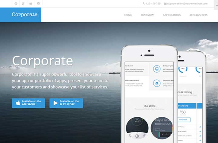 Corporate HTML5 WordPress Theme