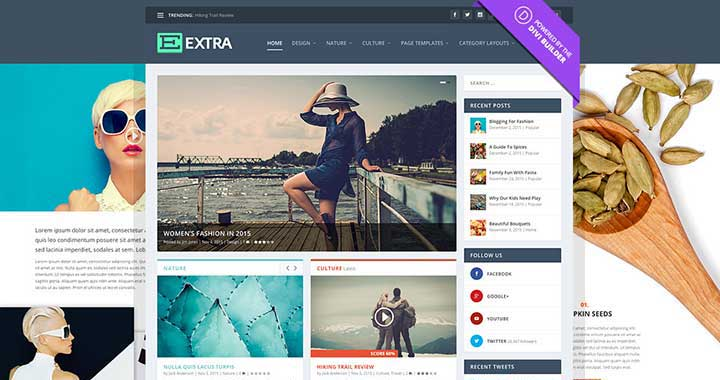 Extra WordPress Dark Theme