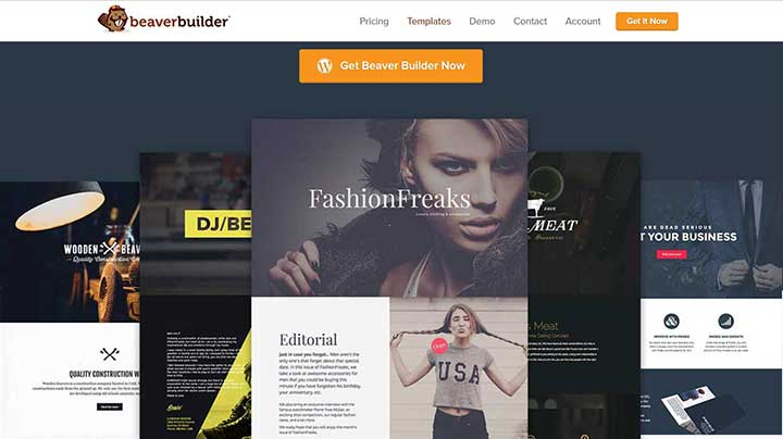 WordPress Templates from BeaverBuilder