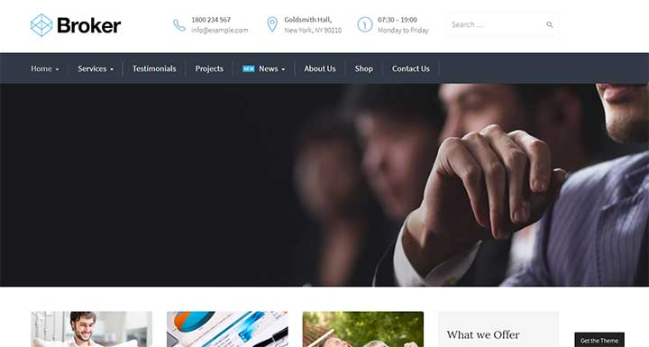 Broker WordPress insurance theme