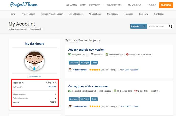 How to Use Project Bidding WordPress Theme