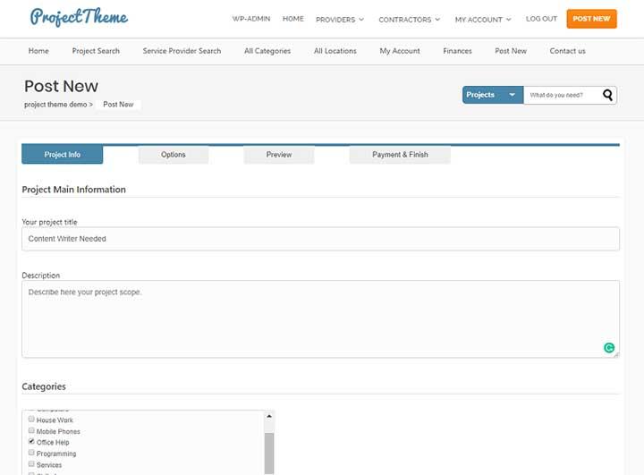 Sitemile Project Bidding WordPress Theme