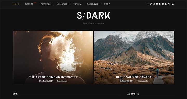 Soledad Dark WordPress Layout