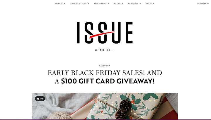The Issue Writers WordPress Theme