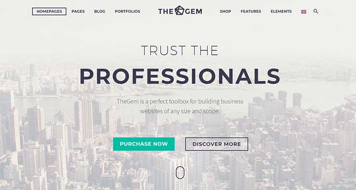 TheGem WordPress insurance theme