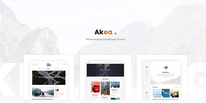 Akea WordPress writers themes