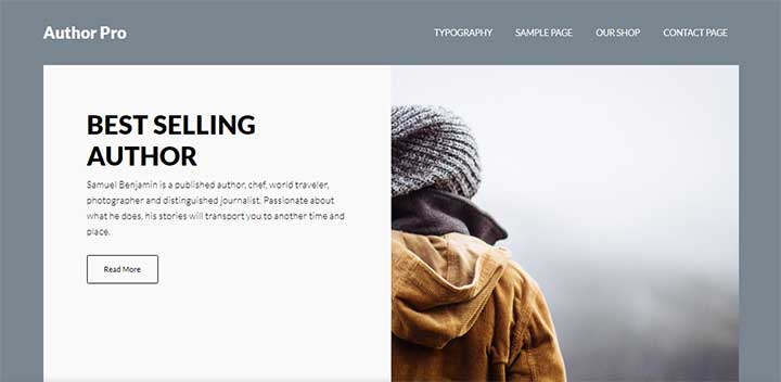 Author Pro WordPress Theme for Writers