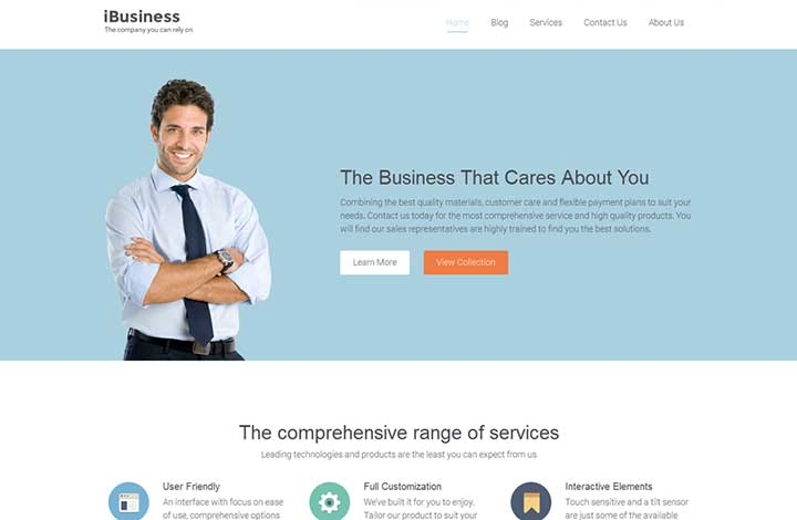 iBusiness insurance WordPress theme
