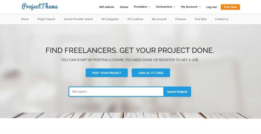 freelance marketplace wordpress theme