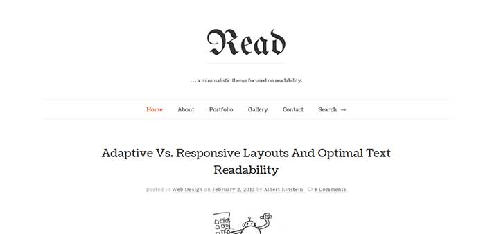 Read WP author Theme