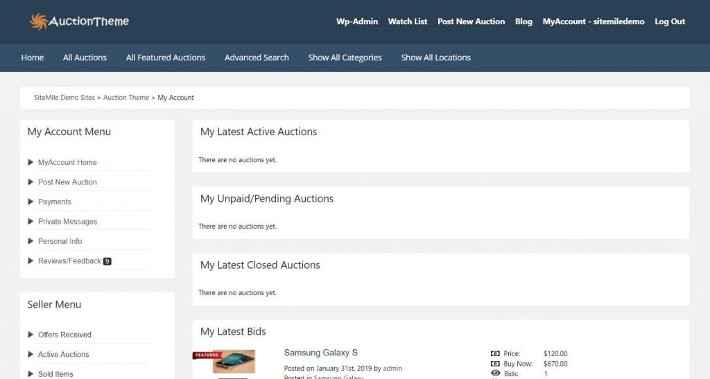Auction WP Theme