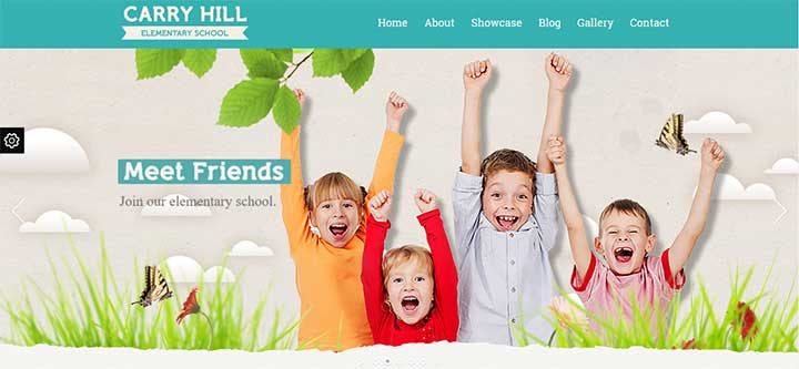 Carry Hill School Responsive WordPress Theme