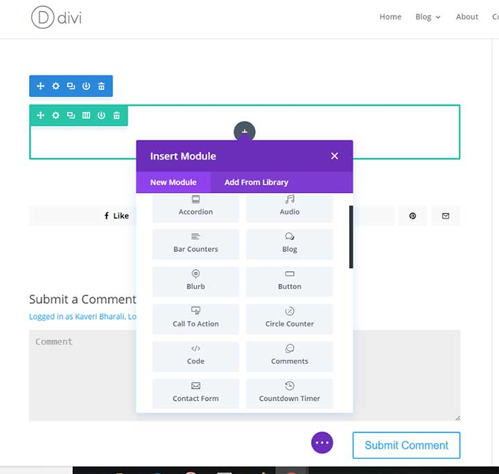 Divi Visual Editor