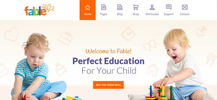 Fable Children Kindergarten WordPress Theme