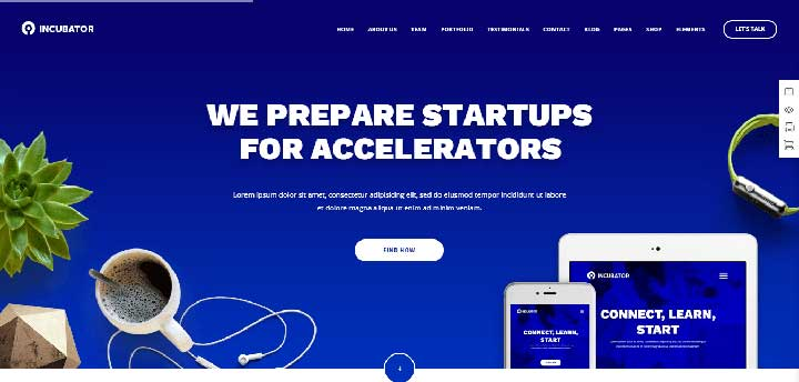 Incubator Small business WordPress Theme