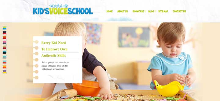 Kids Voice School Responsive WordPress Theme