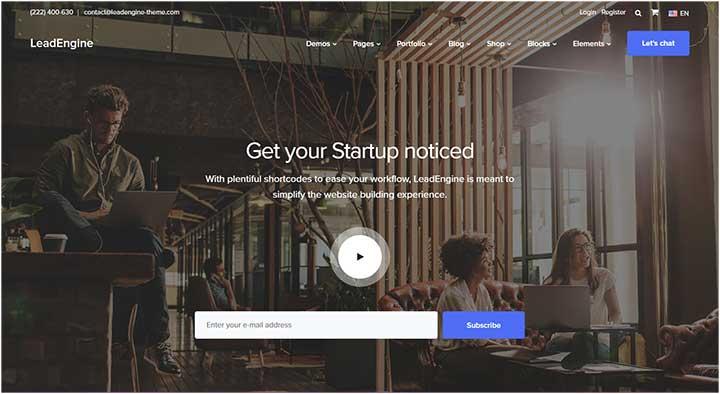 LeadEngine Small business WordPress Theme