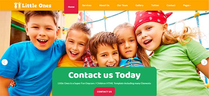 Little Ones One Page Children/Daycare WordPress Theme