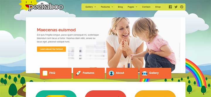 Peekaboo Children WordPress Theme