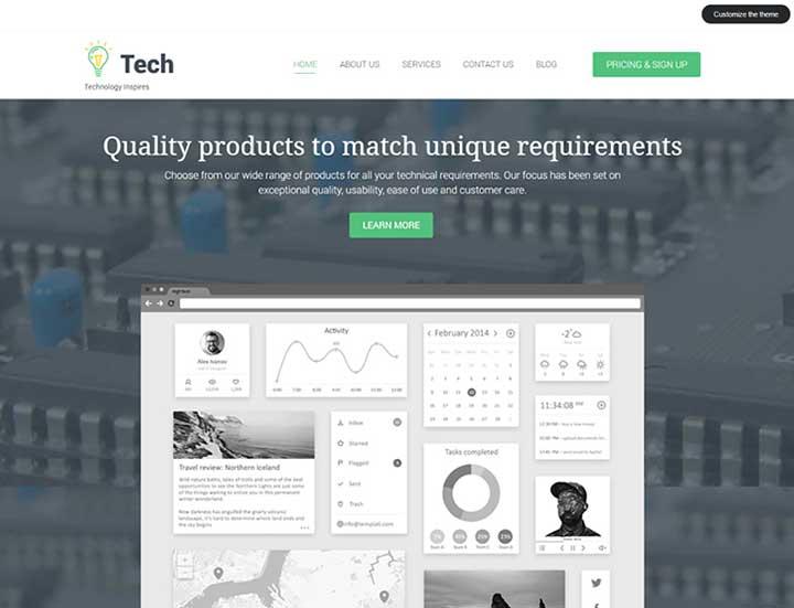 Tech SAAS WordPress Theme