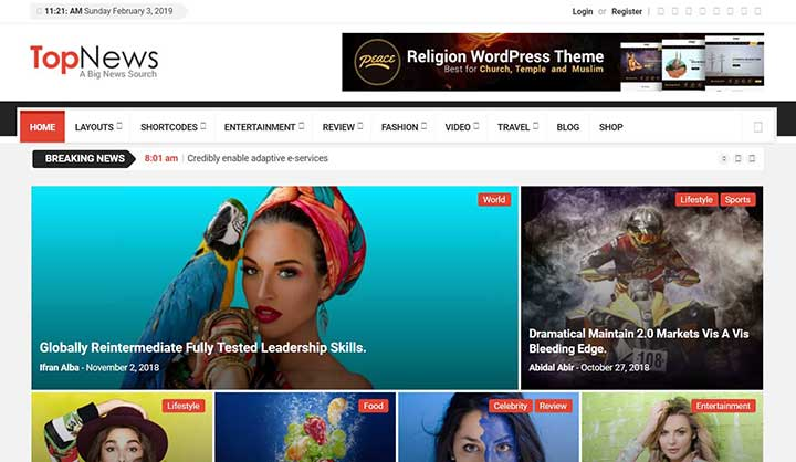TopNews Viral & Buzz WordPress Theme