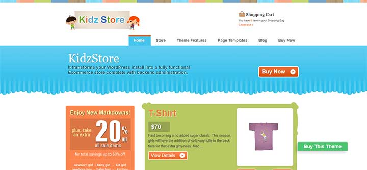 Kidz Store Theme Templatic