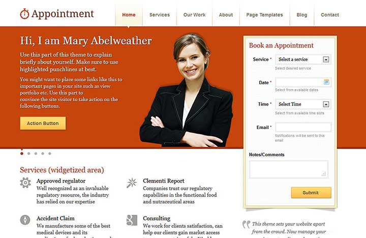 Appointment WordPress Themes