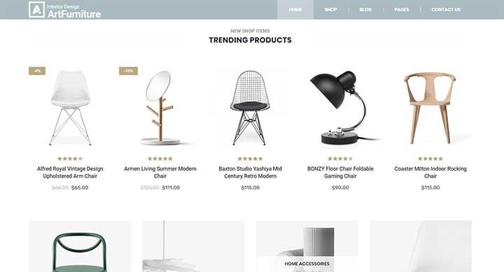 Furniture WordPress Templates