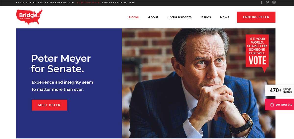 Bridge Political WordPress Theme