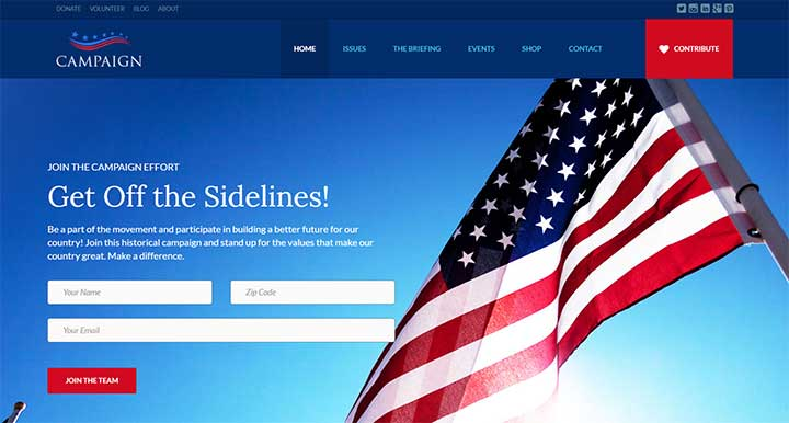 Campaign Your Political WordPress Theme