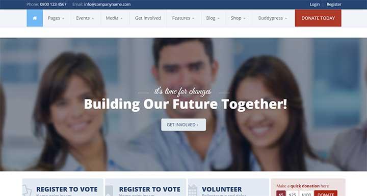 Candidate Political WordPress Theme