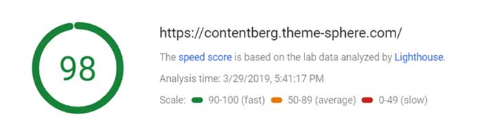 Contentberg Speed Test