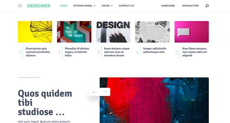 Designer HTML5 Coded WordPress Theme