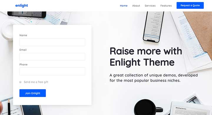 Enlight Multipurpose Landing Page Theme