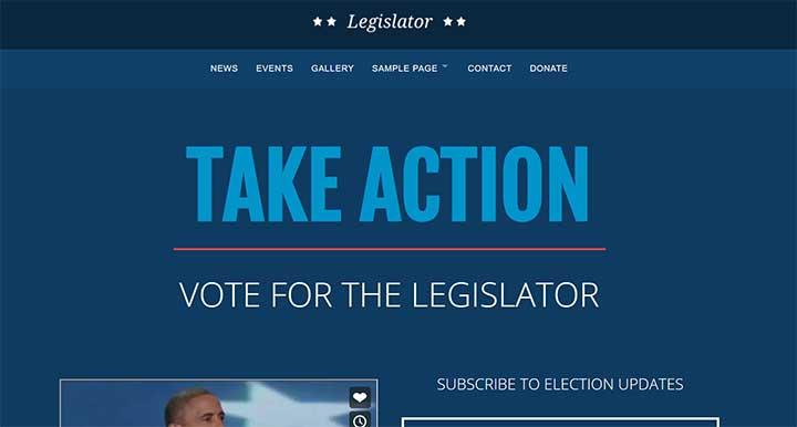 Legislator Political WordPress Campaign
