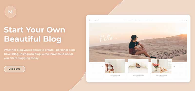 Malina SEO Friendly WP Template