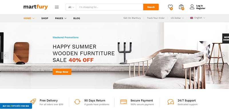 Martfury Furniture WordPress Themes