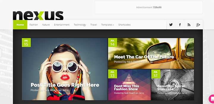 Nexus High Speed WordPress Theme