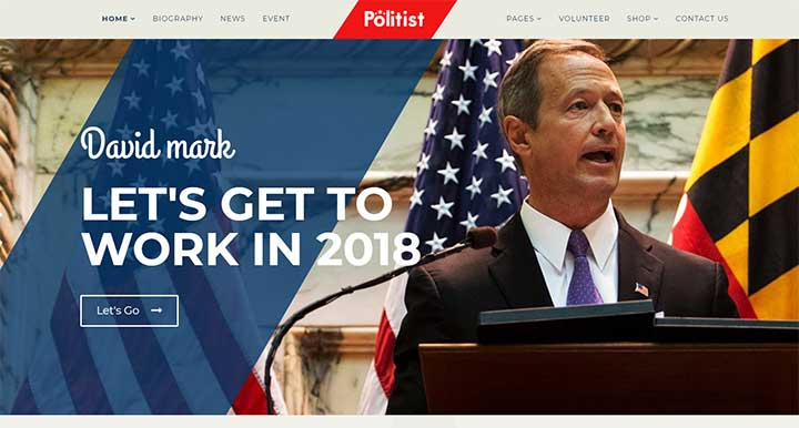 20 best political wordpress themes for politicians. Black Bedroom Furniture Sets. Home Design Ideas