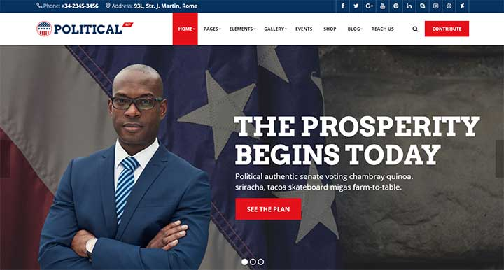PoliticalWP Election WordPress Theme