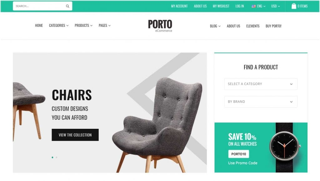 Porto WordPress Dropshipping