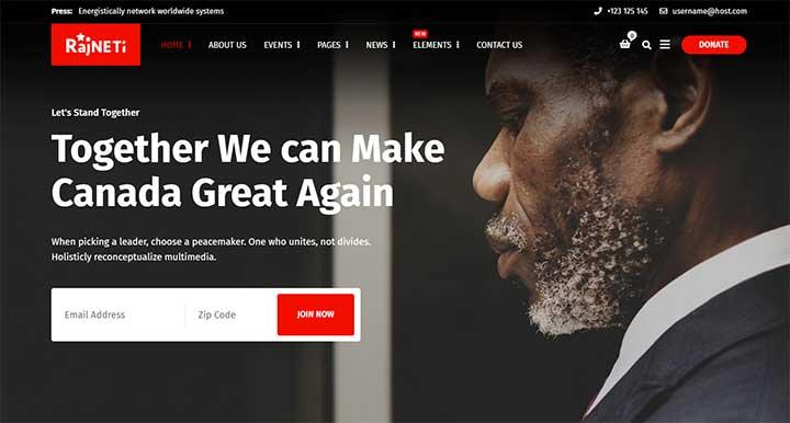 Rajneti Political WordPress Theme
