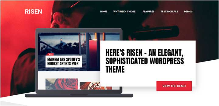 Risen Fast Loading WordPress Theme