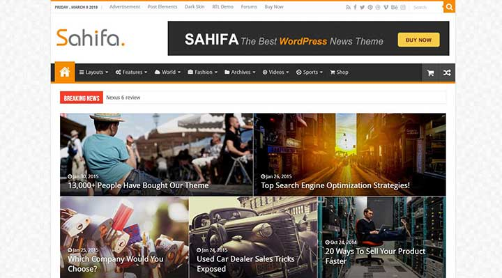 Sahifa Fastest WordPress Theme