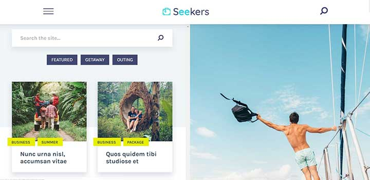 Seekers Fast Loading WordPress Theme