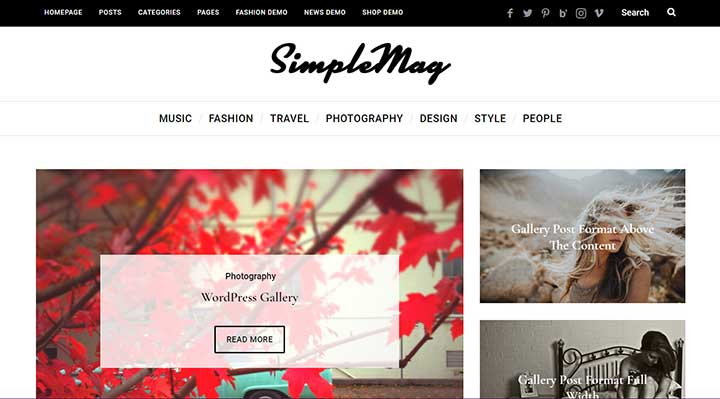 SimpleMag Fast Magazine theme for creative stuff