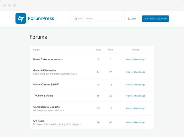 ForumPress WordPress bbPress Theme