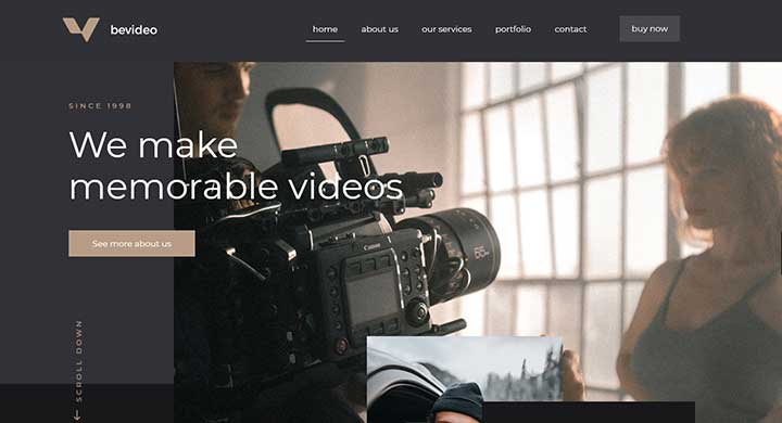 BeTheme Video Blog Theme