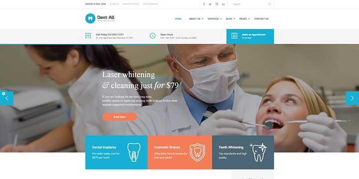 dentall-dental-practice-wordpress-theme